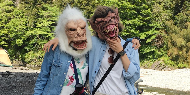 川井キャンプ場 Zagone-masks